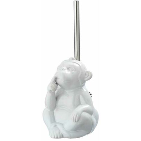 Escobillero WC Monkey Quiet blanco