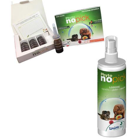 Escoge perros y gatos no bienvenidos a las pulgas y garrapatas naturales con aceite de Neem y aceites esenciales Union Bio