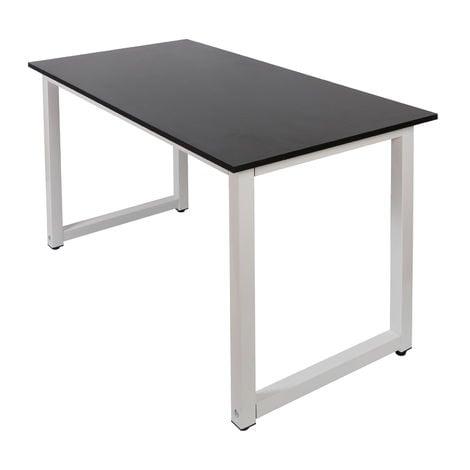 """main image of """"Escritorio 120x60x70cm negro con tablero MDF y patas de hierro pies de mesa ajustables"""""""