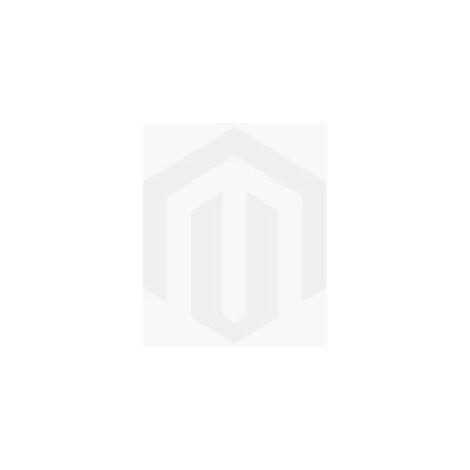 Escritorio Basil Metal - Mesa - con estante - para oficina, estudio, dormitorio - Roble, Blanco en Madera, Metal, 100 x 60 x 72 cm