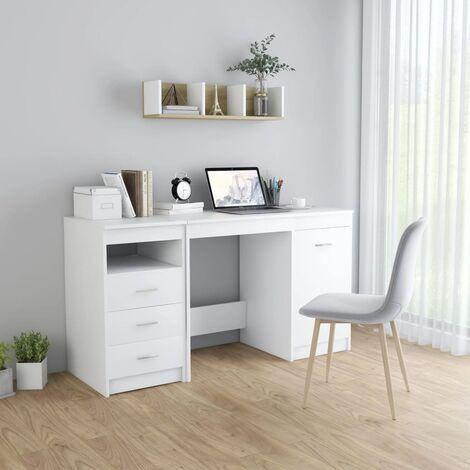 Escritorio de aglomerado blanco 140x50x76 cm - Blanco