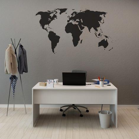 Escritorio Neria - con estante - para oficina, estudio, dormitorio - Blanco en Madera, 160 x 70 x 74 cm