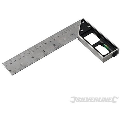 Escuadra de carpintero con nivel (150 mm)
