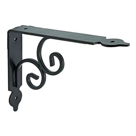 Escuadra para estanteria metalica decorativa 190x240 mm Negro