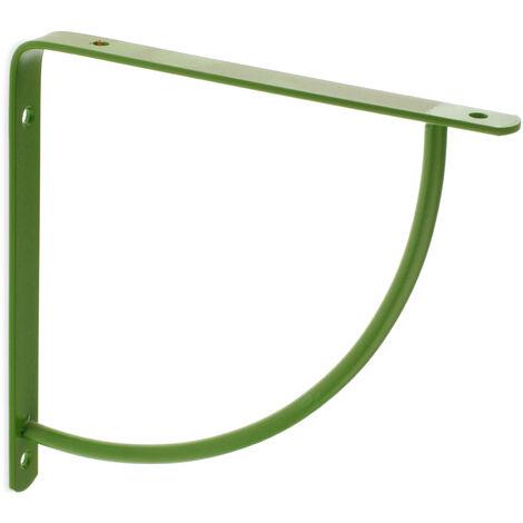 Escuadra para estantes BELLY: de estilo decorativo, fabricada en acero y con acabado manzana.