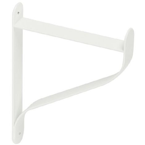 Escuadra para estantes FOLD: de estilo decorativo, fabricada en acero y con acabado blanco mate.