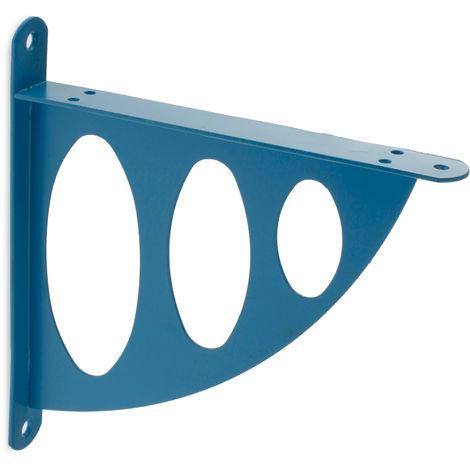 Escuadra para estantes SURF: de estilo juvenil, fabricada en acero y con acabado azul celeste.