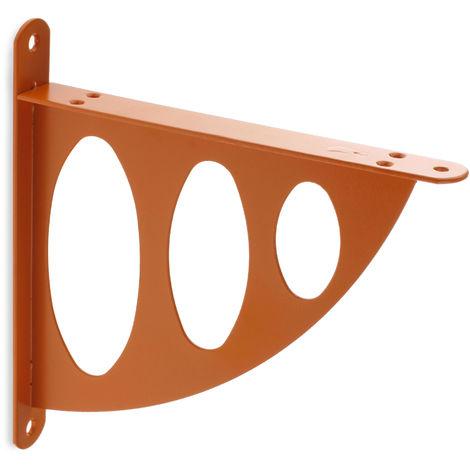 Escuadra para estantes SURF: de estilo juvenil, fabricada en acero y con acabado naranja.