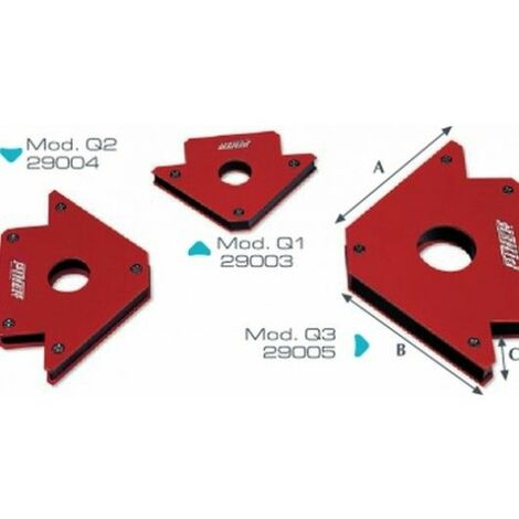 ESCUADRA Q-3 GRANDE 140MM MAGNETICA