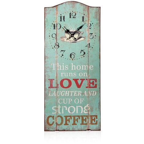 escudo de madera escudo de pared panel de reloj estación de reloj esclavo reloj de madera reloj de pared de café