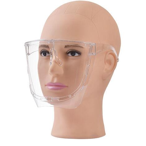 Escudo facial de seguridad, mascarilla facial completa, protector facial envolvente protector transparente
