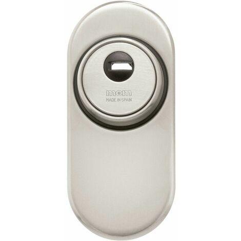 Escudo Seguridad Cerrado Con Escudo Conico Plata