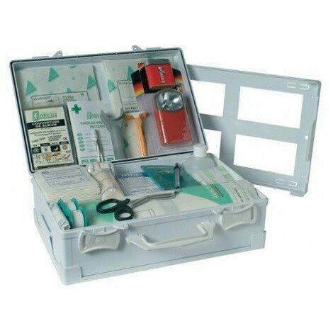Esculape - Coffret de secours ambulance en polypro blanc - ASEP V.S.L