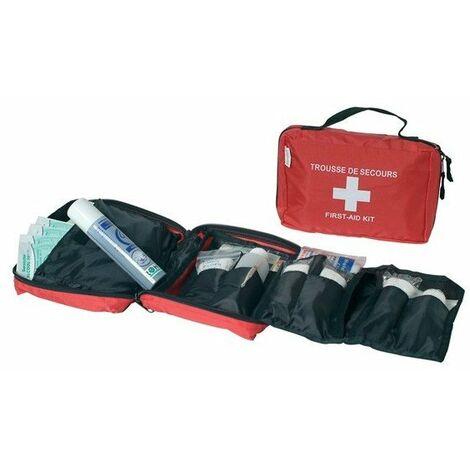 Esculape - Trousse de secours sports et loisirs en nylon rouge - ASEP CLUB SOUPLE
