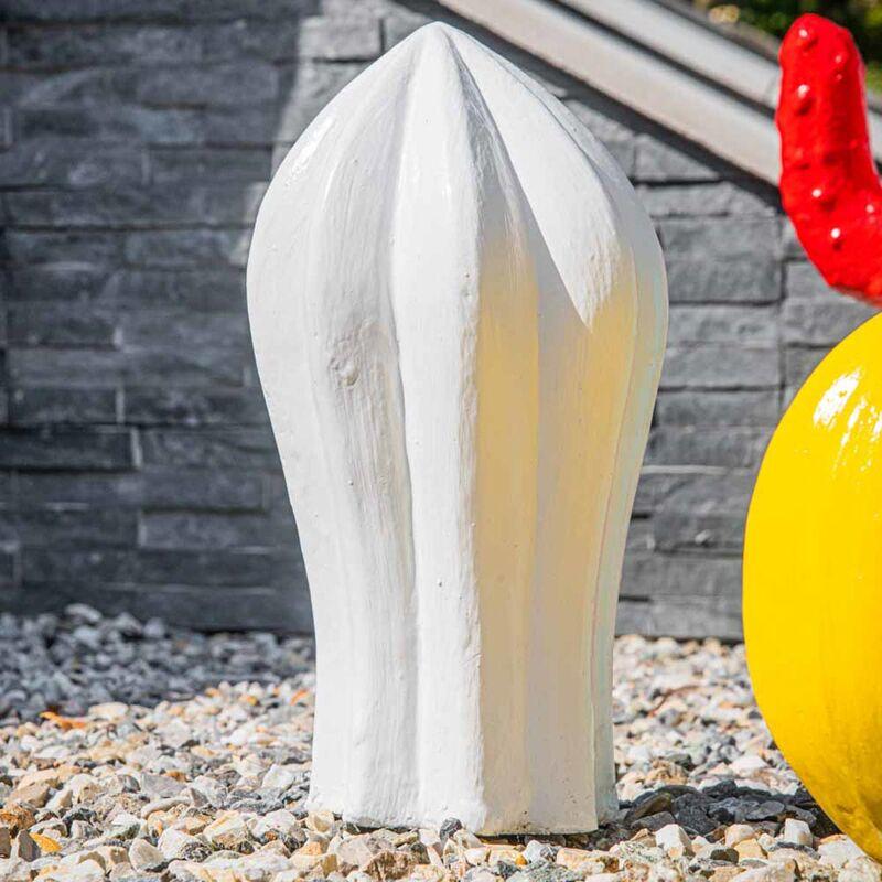 Escultura de cactus jardín deco blanco 30cm - WANDA COLLECTION