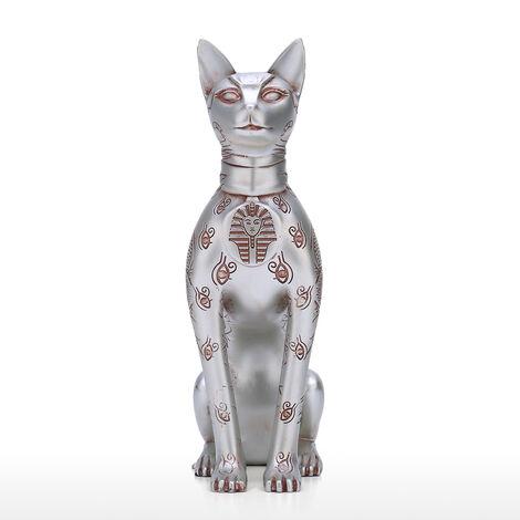 Escultura Totem Resina gato egipcio, Decoracion de oficina