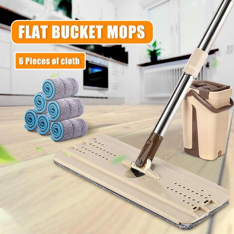 Escurridor de secado autolimpiante con 10 almohadillas para sistema de piso de cubo de fregona tipo B