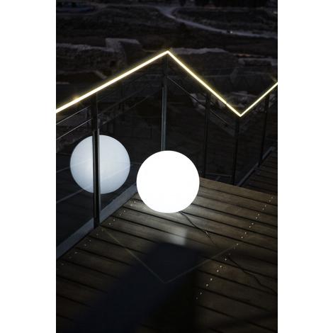 Esfera iluminada 30 cm exterior e interior, LED luz blanca, cable.