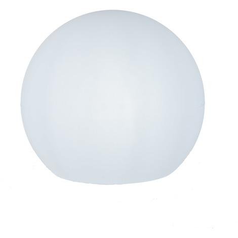 Esfera iluminada 30 cm jardín, carga solar, automático, LED luz blanca, flotante