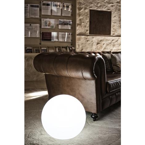 Esfera iluminada 50 cm exterior e interior, LED luz blanca, cable.