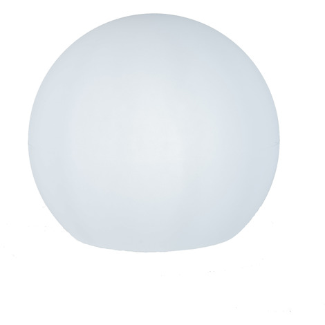 Esfera iluminada 60 cm jardín, carga solar, automático, LED luz blanca, flotante
