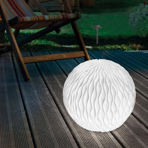 Esfera luminosa solar LED de 26cm con aspecto de arenisca para decoración de jardín esotec 102677