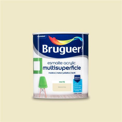 Esmalte Acrílico Multisuperficie Bruguer Mate Blanco Lino 750ml