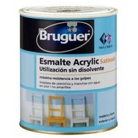 Esmalte Acrilico Satinado 4 Lt Blanco/Permanente Interior/Exterior Sin Olor Bruguer