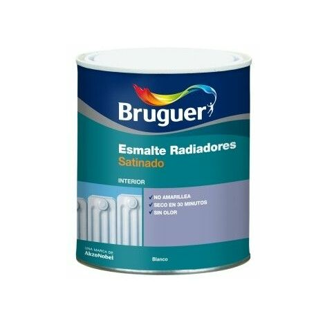 Esmalte Acrilico Satinado 750 Ml Blanco Interior/Exterior Radiadores Bruguer