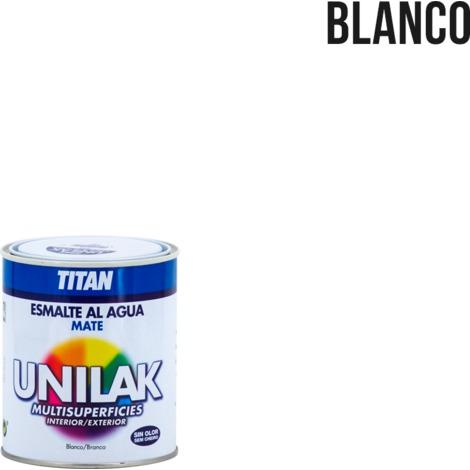 Esmalte al agua Unilak Mate   750 mL - 1400 Blanco