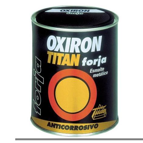 Esmalte Antioxidante Brillante 375 Ml Gris Exterior Oxiron Titan