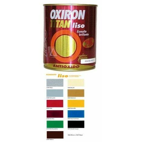 Esmalte Antioxidante Brillante 750 Ml Gris Exterior Oxiron Titan