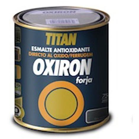 Esmalte Antioxidante Forja 750 Ml Marron Oxido Exterior Oxiron Titan