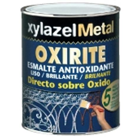 Esmalte Antioxidante Oxirite Liso Brillante Blanco-Negro