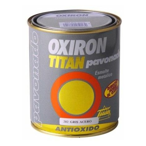 Esmalte Antioxidante Pavonado 375 Ml Gris Exterior Oxiron Titan