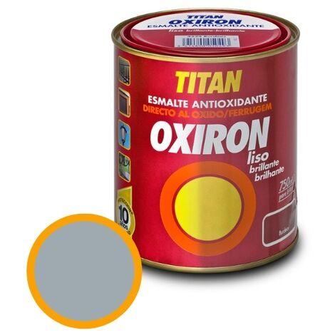 Esmalte Antioxidante Titan Oxirón Liso Brillante Gris Perla 375ml