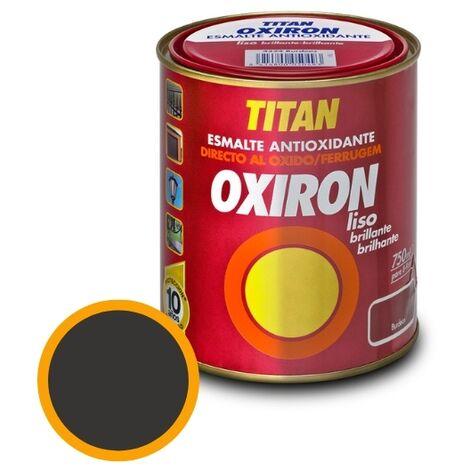 Esmalte Antioxidante Titan Oxirón Liso Brillante Negro 750ml