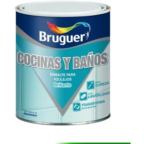 Esmalte Azulejo Br Gris Pizarr - BRUGUER - 5160699 - 750 ML