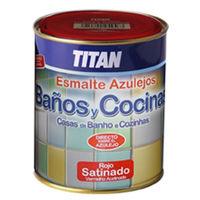Esmalte Azulejo Sat. Azul - COCINAS/BAÑO TITAN - 02E140334 - 750 ML