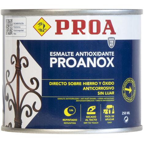 Esmalte directo sobre óxido antioxidante Proanox, Verde botella RAL 6005 0.25lts