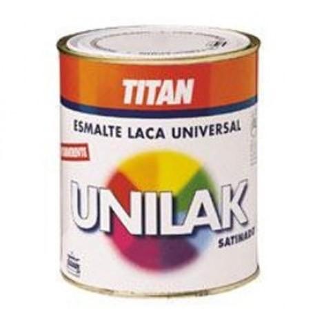 Esmalte laca sat. 750 ml ocre agua unilak titan