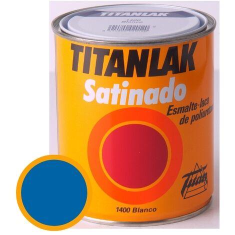 Esmalte Laca Satinado Titanlak Titan Laca Poliuretano Azul Luminoso 750ml