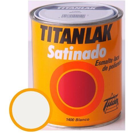 Esmalte Laca Satinado Titanlak Titan Laca Poliuretano Blanco 4L
