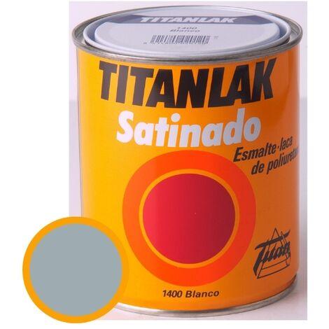 Esmalte Laca Satinado Titanlak Titan Laca Poliuretano Gris Perla 750ml