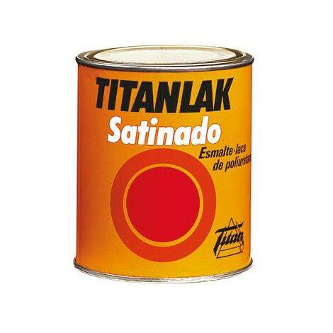 Esmalte Laca Satinado Titanlak Titan Laca Poliuretano Marrón 750ml