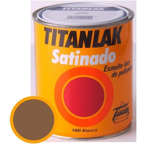 Esmalte Laca Satinado Titanlak Titan Laca Poliuretano Ocre 750ml