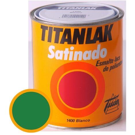 Esmalte Laca Satinado Titanlak Titan Laca Poliuretano Verde Primavera 750ml