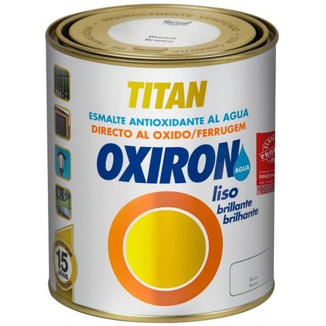 Esmalte Liso Brillante Al Agua Blanco 4 L - OXIRON - 02L456604