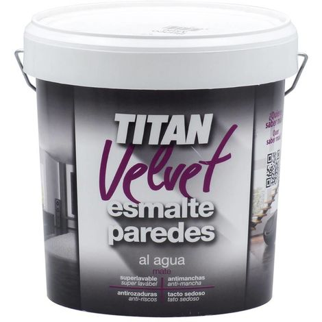 Esmalte Paredes Titan Velvet Blanco   10 L