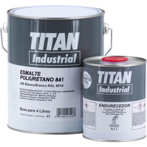 Esmalte Poliuretano-Acrílico Titan 841 Blanco | 4 L